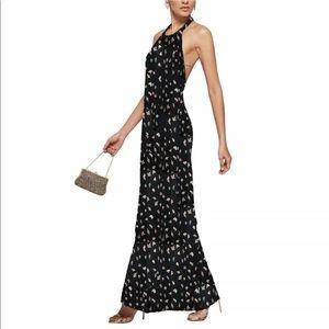 Vtg 90s Maxi Halter Dress - Reformation Style